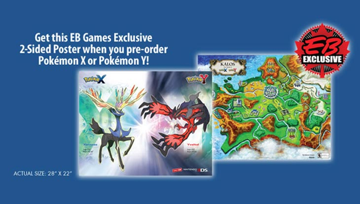 Pokemon X and Y poster in pre-order bonus