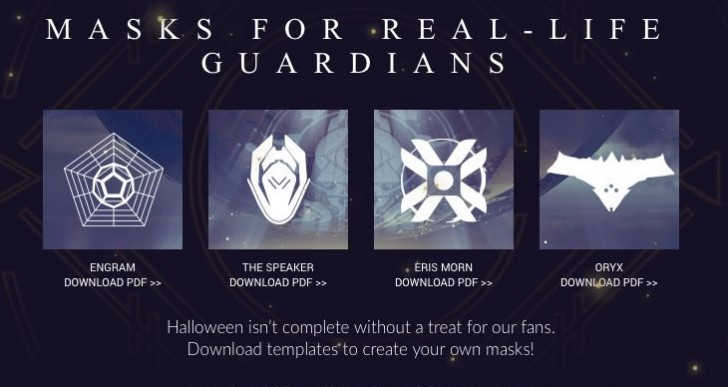 Free Printable Halloween masks with Destiny stencils
