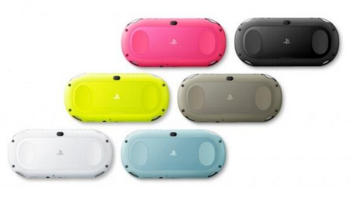 Plenty of bright colors for the new Vita