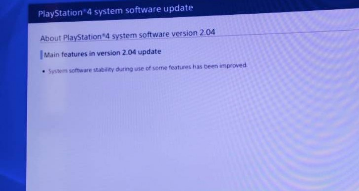 PS4 2.04 after problems