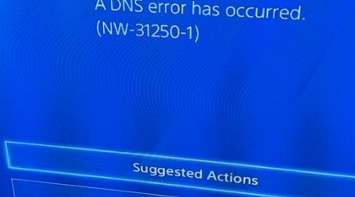 PS4 DNS NW-31250-1 error, cannot play online