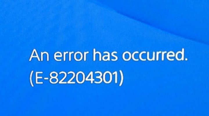 PS4 E-82204301 error with Party Chat