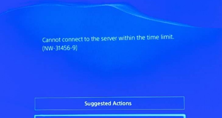 PS4 NW-31456-9 error code causing problems