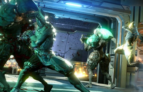 Don't forget about F2P Warframe, also due out at launch.