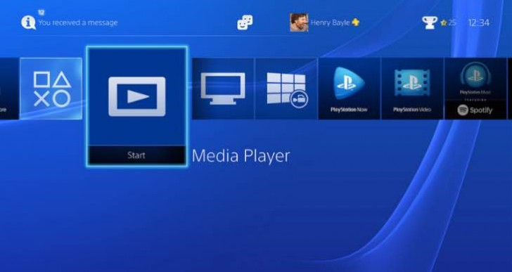 PS4 media player file formats list with DLNA, MKV