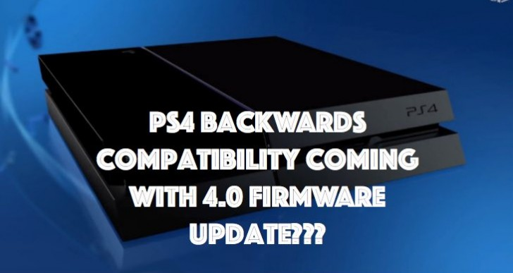 PS4 4.0 firmware update for backwards compatibility