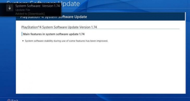 PS4 1.74 update live, no 3D Blu-Ray