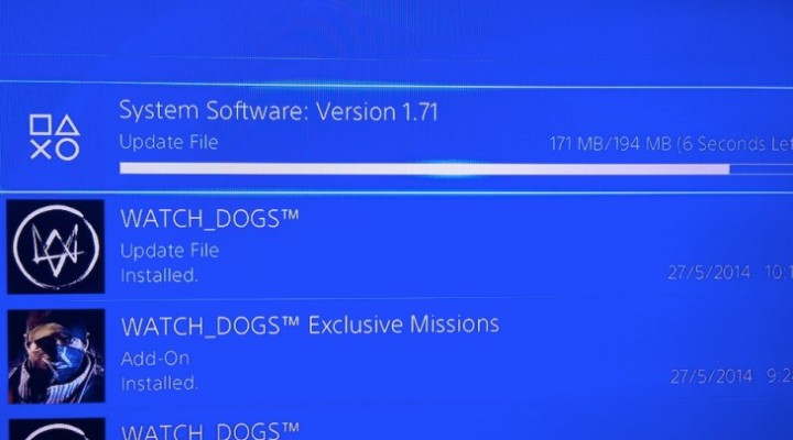 PS4 1.71 update live at 194MB