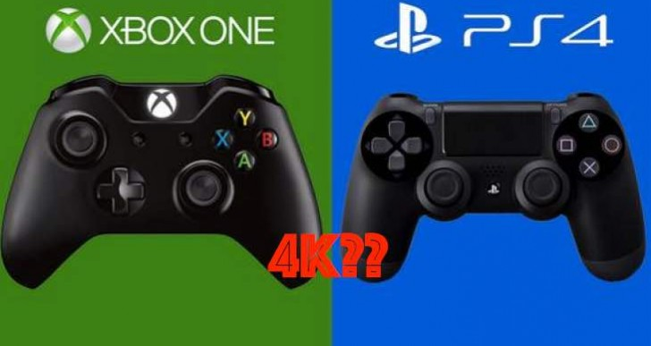 Xbox One supports 4K for games, PS4 for video only