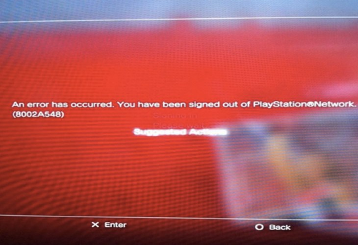 PSN error code 8002a548 preventing GTA Online fix