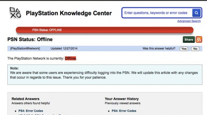 Sony confirm PSN sign-in problems with offline status