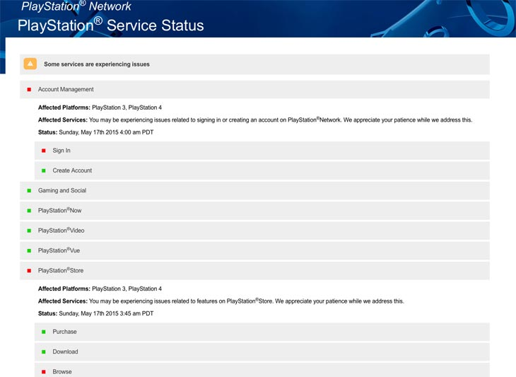 cannot sign into playstation network