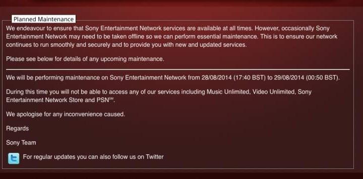 PSN down today with PS4 E-8200013A error