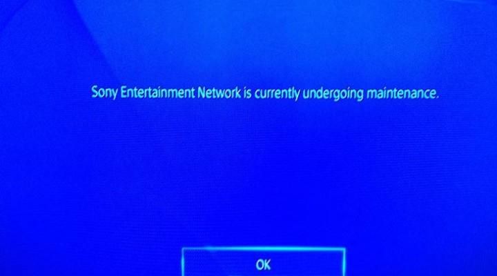 PSN down with undergoing maintenance error again