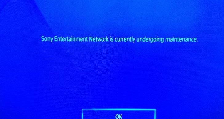 PSN down with undergoing maintenance error again