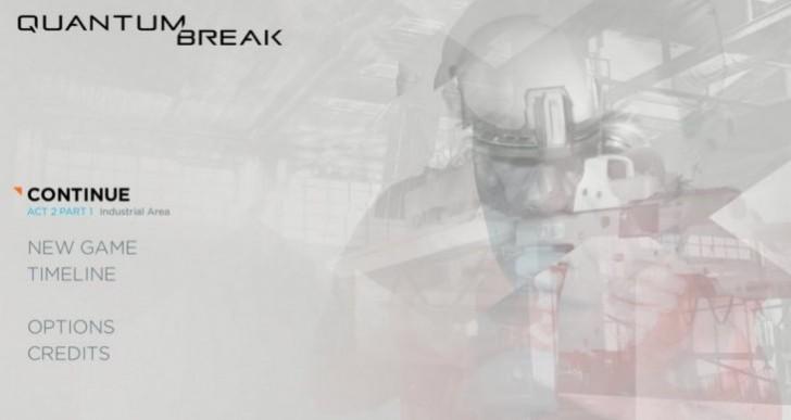 Quantum Break PC quit option missing