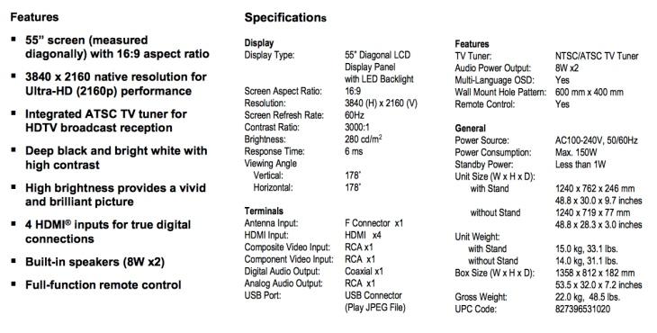 quasar-sq5505u-4k-tv-specs