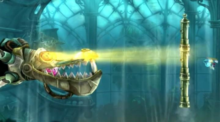 Wii U Rayman Legends boss fight gameplay