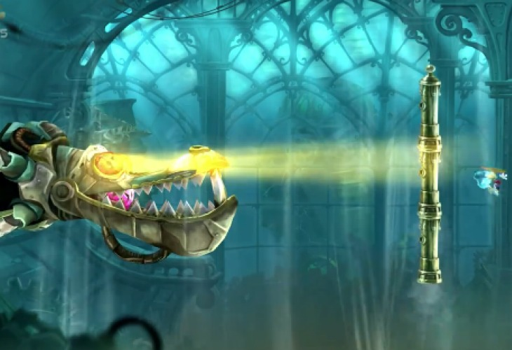 Wii U Rayman Legends boss fight gameplay