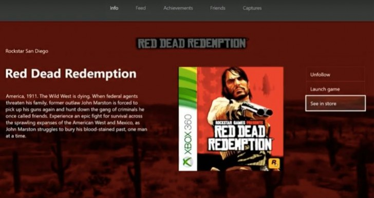 Red Dead Redemption Xbox One backwards compatibility release soon