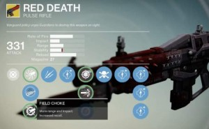 Destiny Red Death pulse rifle review after Xur