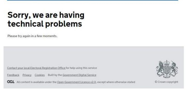 register-to-vote-website-down