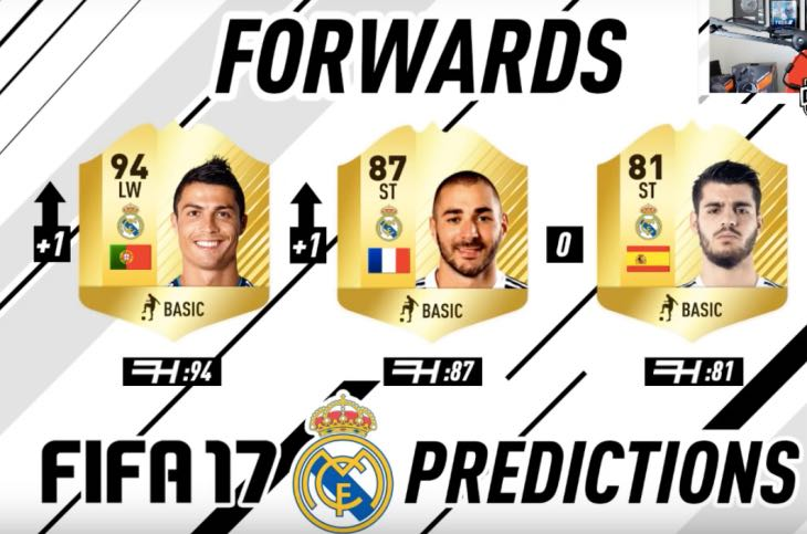 FIFA 17 Real Madrid Players Rating