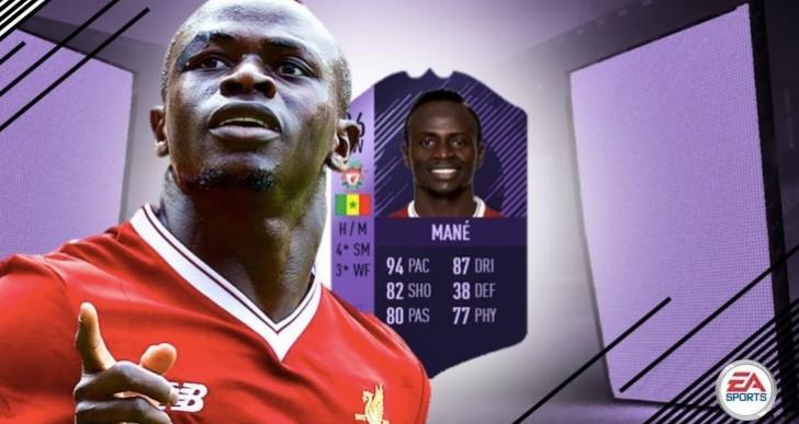 Sadio Mane best player on FIFA 18 after 86 Hero card