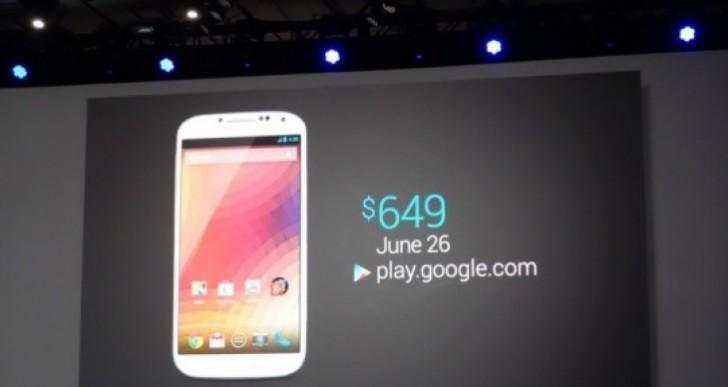 Samsung Galaxy S4 Nexus joy, Verizon and Sprint pain