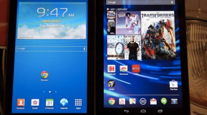 Samsung Galaxy Tab 3 7″ Tablet Vs Nexus 7 2013 review