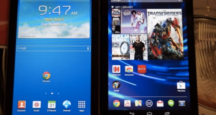 Samsung Galaxy Tab 3 7″ Tablet Vs Nexus 7 2013 review