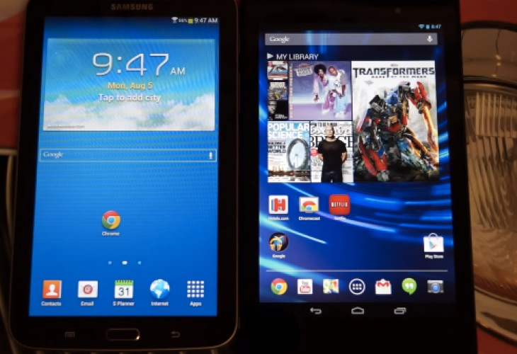 samsung galaxy tab 3 7 tablet vs nexus 7 2013 review product
