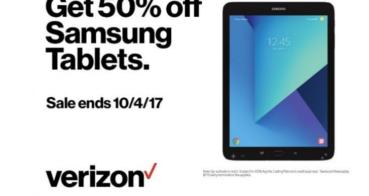 Samsung Tablet 50% off sale live at Verizon
