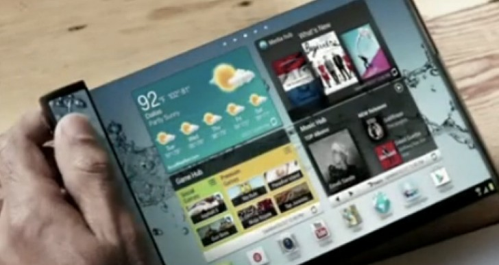 Samsung flexible tablet rumors at MWC 2014