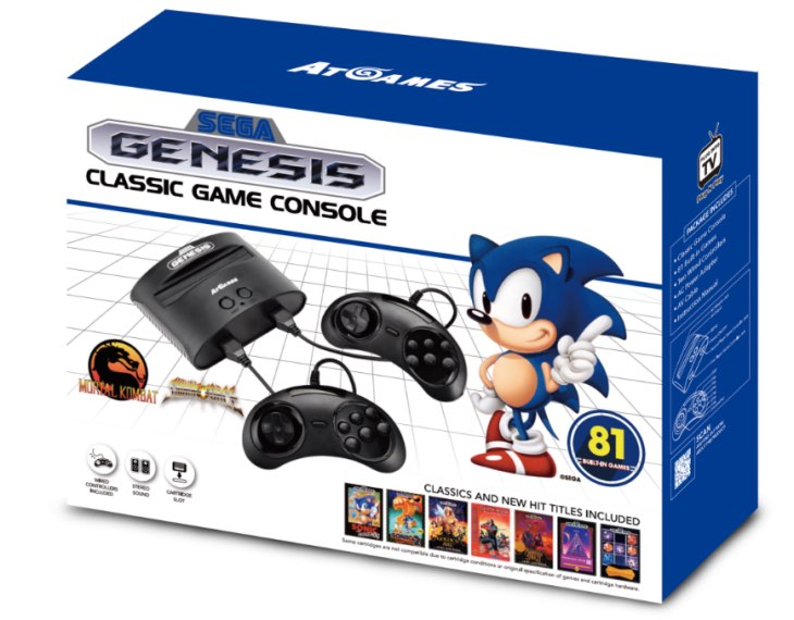 Sega Megadrive Classic games list for Argos Black Friday