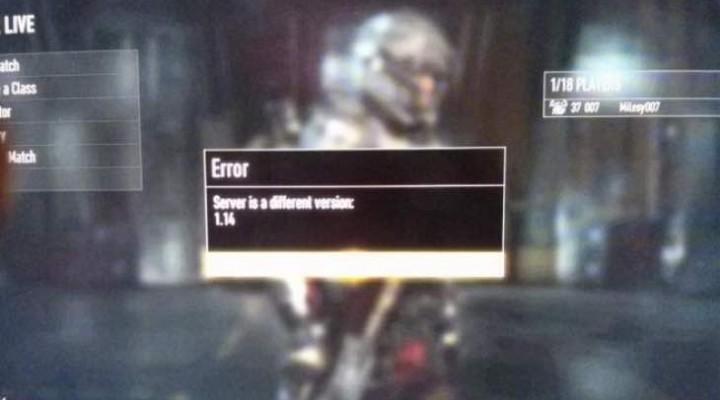 Advanced Warfare hits different server version error to 1.14