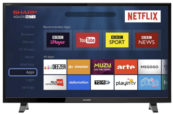 Sharp LC-40CFG3021KF Smart TV review perfect for bedroom