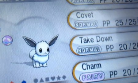 Pokemon X and Y Shiny Eevee caught live