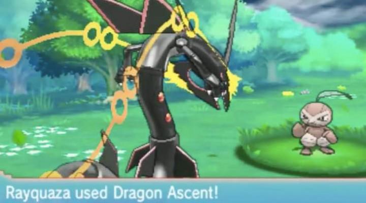 Pokemon ORAS Shiny Mega Rayquaza with Dragon Ascent