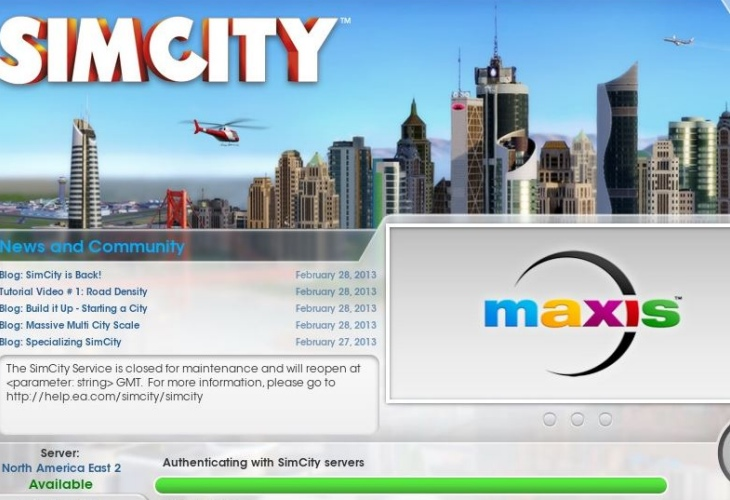 Sim City server problems with online saves causing anger