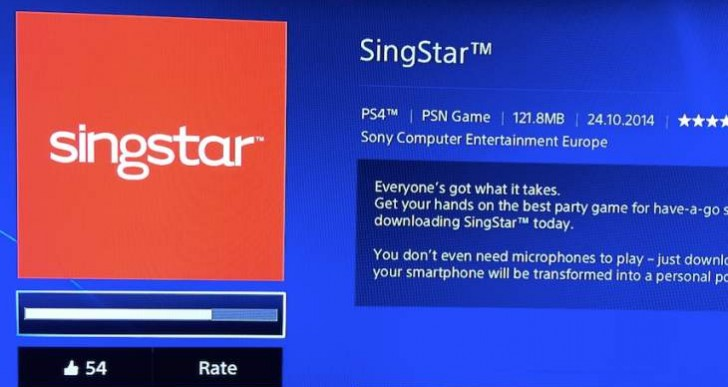 PS4 SingStar app is live with problems