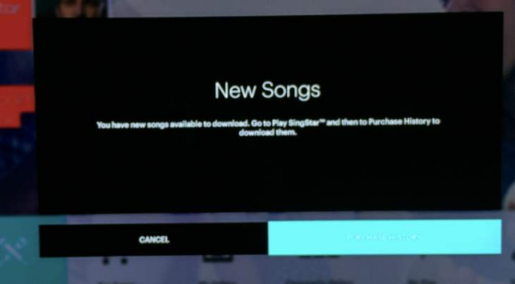 SingStar songs missing
