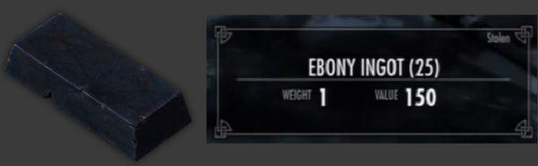 Skyrim ebony ingot locations