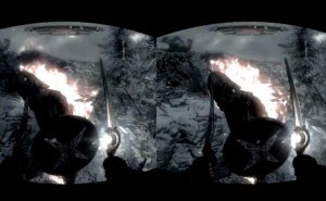 Skyrim virtual reality realized with Oculus Rift