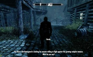 Start Skyrim DLC with Fort Dawnguard quest