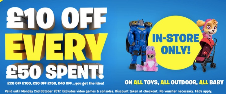 smyths-10-off-50-discount-codes