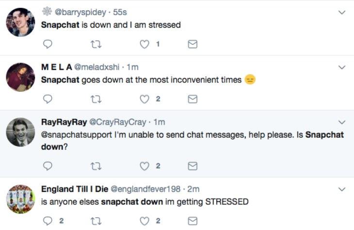 Snapchat Down October