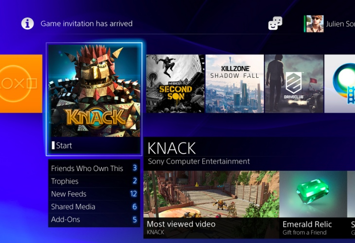 Sony PS4 interface pictures shows beauty