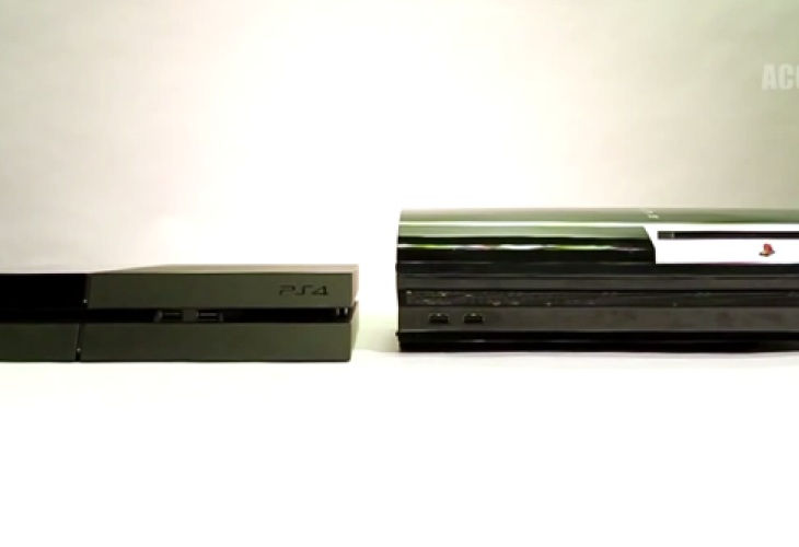 PS4 vs PS3 size in official video