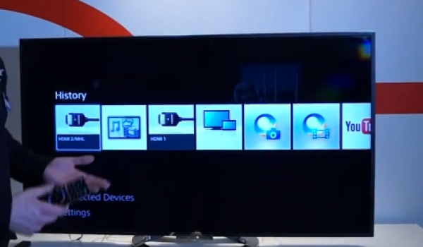 Sony PS4 XMB interface hints from 2013 Bravia TV